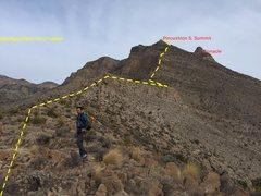 Rock Climbing Photo: approach and climb