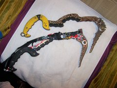 Rock Climbing Photo: my tools.  top pic, yellow handle is what I am tra...