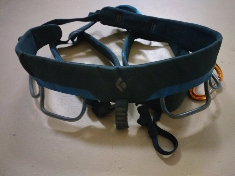 $70 BD harness.  Used but in very good condition.  Typical gear loop attachment wear that these harnesses always get. Size M