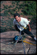 Rock Climbing Photo: Kim Miller, Prodigal Son, Angels Landing.