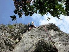 Rock Climbing Photo: Topping out on Mična gospodična