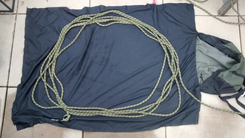 Rock Climbing Photo: COIL ROPE IN BAG