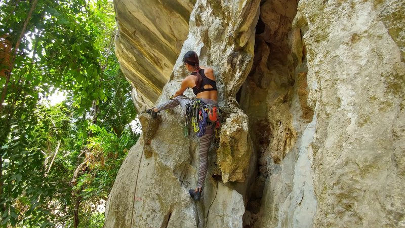 Sea lover.. nice climb with w overhangs :)