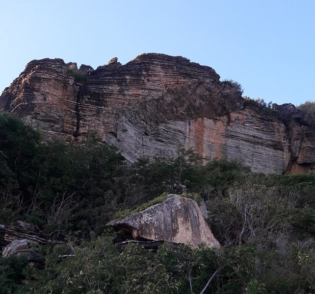 The main crag at Point Blanche