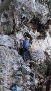 Rock Climbing Photo: Paolo on La Concha... Sint marteen