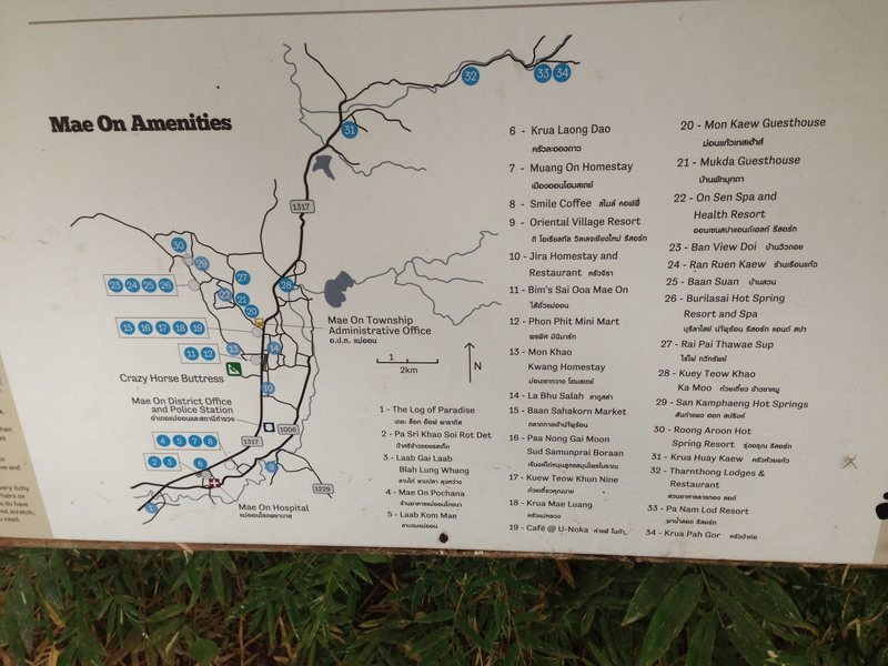 Rock Climbing Photo: The super useful local Mae On area map provided at...