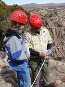 Rock Climbing Photo: Rappel device school
