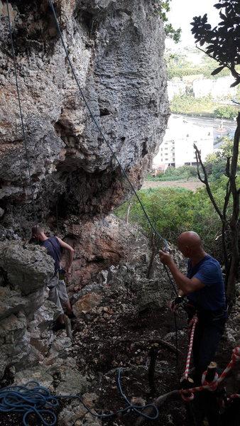 Rock Climbing Photo: Action time
