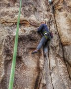 Rock Climbing Photo: Aubrey working on a new route at Mustang Ranch.  (...