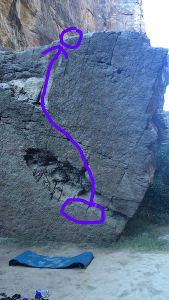 Rock Climbing Photo: Sit start to a high topout