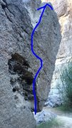 Side shot showing the two finger pocket on the arete