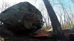 Rock Climbing Photo: Crux of Pedestal Left