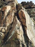 Rock Climbing Photo: The rope is hanging on the route.