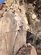 Rock Climbing Photo: The right side of the route.  Only the last bolt i...