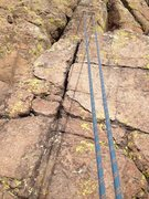 Rock Climbing Photo: The crack to the left of the rope is where you can...