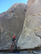 Rock Climbing Photo: About to enter the crux, it's steeper than it ...