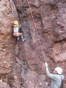 Rock Climbing Photo: Son of Sam, a fun low angle gear climb at Minor Wa...
