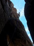 Rock Climbing Photo: DAS just past the 3rd bolt on the FA.
