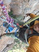 Rock Climbing Photo: AMH development setup: top rope Soloist with gear ...