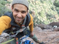 "Rock Climbing Photo: AMH up high developing with DAS on ""Hola Larr..."