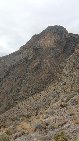 Tall, steep wall somewhere below Summerlin Peak.