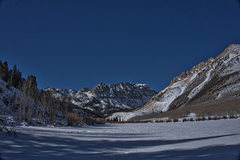 Rock Climbing Photo: North Lake frozen in winter.