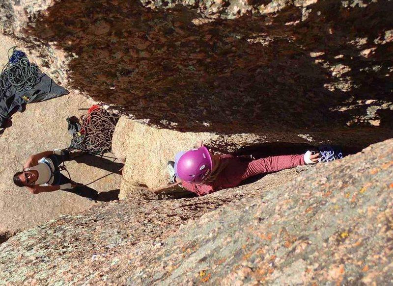 Rock Climbing Photo: Handjacker 5.7+