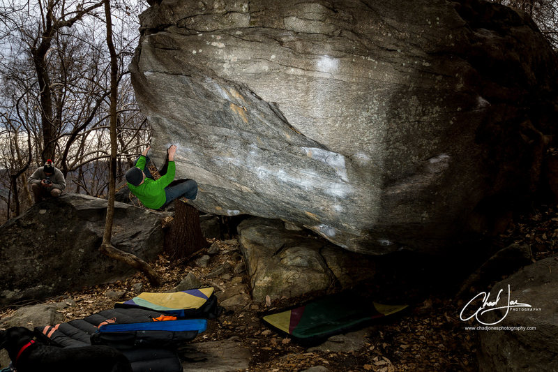 Rock Climbing Photo: Adam cranking on Brackish