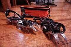 Rock Climbing Photo: Sabertooth Clip Crampons.