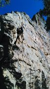 Rock Climbing Photo: Problem solving the crux Rat Bone 10c in Cedar Can...