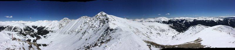 Rock Climbing Photo: A-Basin East Ridge summit panorama
