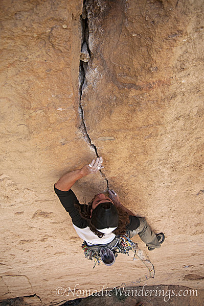 Rock Climbing Photo: Rising Expectations 5.11d Monkey Face, Smith Rocks...