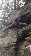 """Rock Climbing Photo: Looking out a """"window"""" on the far side o..."""