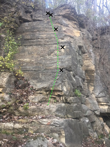 Rock Climbing Photo: Cody's First Lead