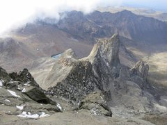 Rock Climbing Photo: Looking down the ridge to Pt John from above DeGra...