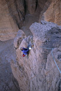 Rock Climbing Photo: Looking back across the short pitch 2, Strappo bel...