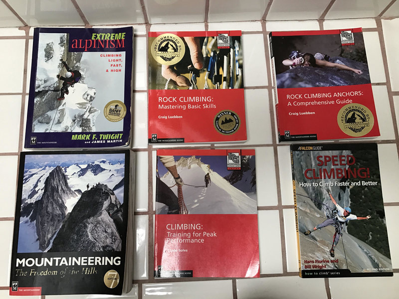 Rock Climbing Photo: all books