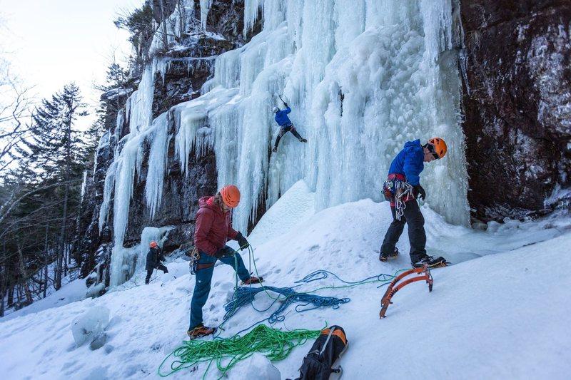 Rock Climbing Photo: Left climber on Hydra. Cierean on the right.