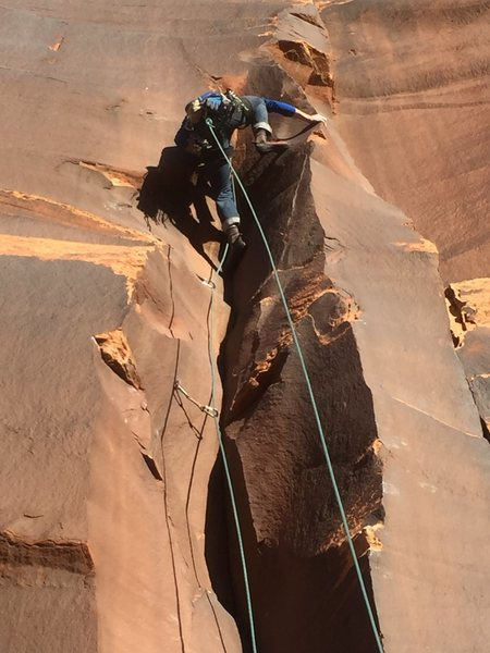 Rock Climbing Photo: I originally planned on having just two bolts...un...