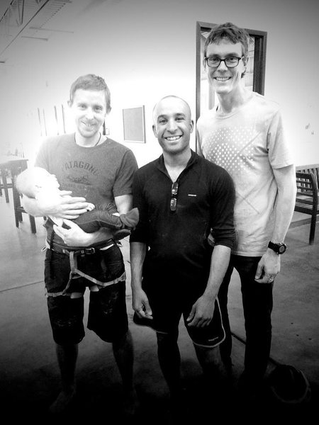 Hanging out with my idols Tommy and Scott when I worked at Movement Climbing + Fitness Boulder, CO.