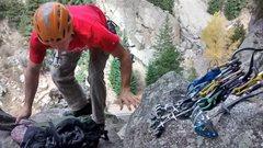 Rock Climbing Photo: boulder canyon trad day