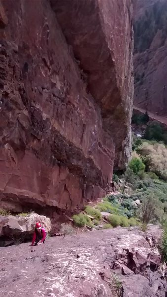 Rock Climbing Photo: scrambling  the ramp in eldo