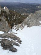 Rock Climbing Photo: Mummy Mountain, East couloir