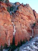 Rock Climbing Photo: S. Fork Taylor Creek, Zion Ice