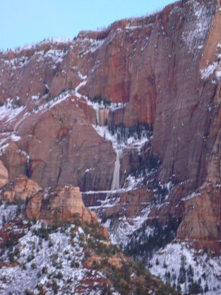 Kolob Canyons, Zion Ice