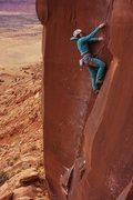 Rock Climbing Photo: Alix Morris nears the end of the crux. Photo by Aa...