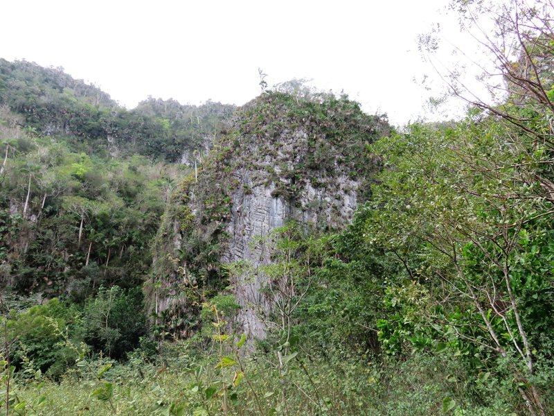 Rock Climbing Photo: Punta Repaso from a distance. Climber on El Puso e...