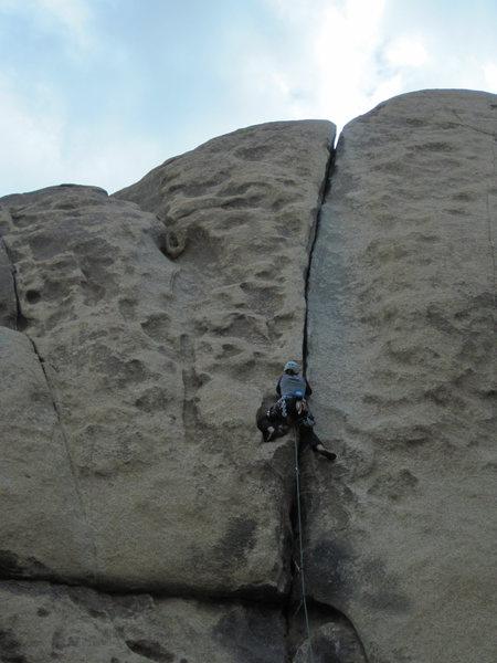 Rock Climbing Photo: Spiderman, 5.10b - JTree