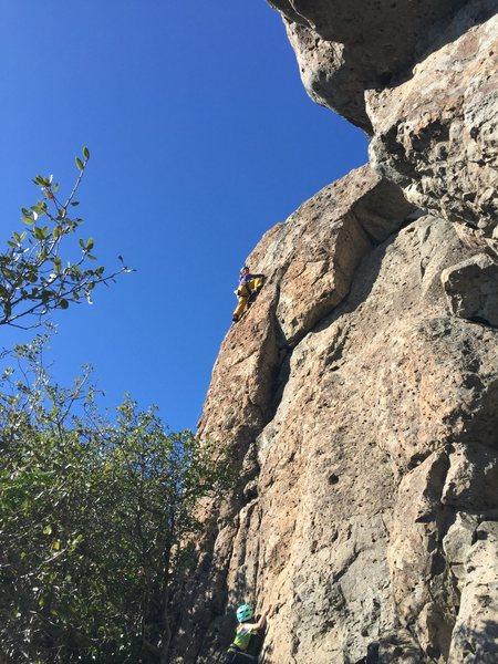 Rock Climbing Photo: The finishing moves of Something Good