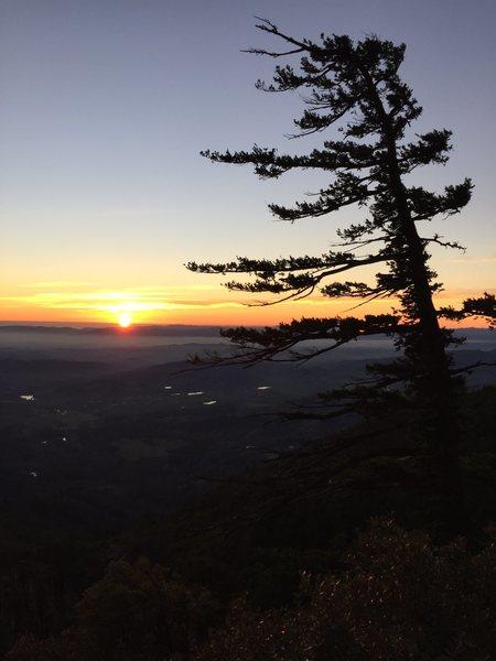 Rock Climbing Photo: St Helena sunset